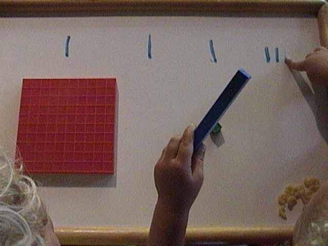 place value with base ten blocks, mortensen math, teach place value