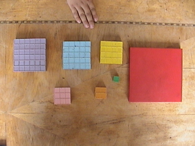 beginner square roots, square root manipulatives