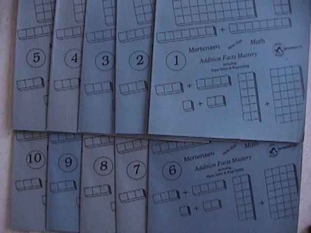 Mortensen Math, Addition Facts Mastery,