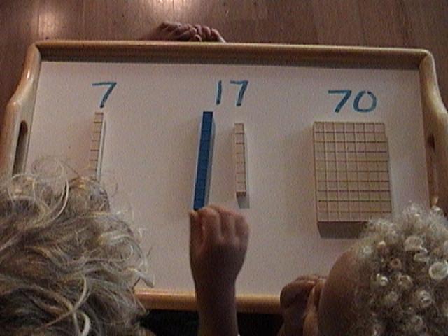 base ten manipulatives, base ten blocks, number identification, mortensen math