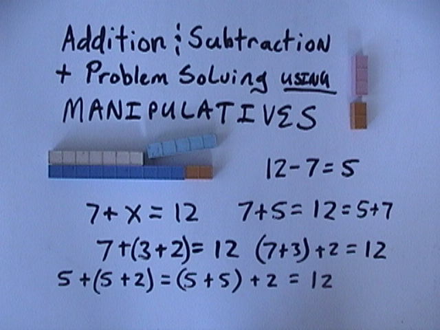Addition And Subtraction Using Manipulatives