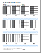 math worksheet : first grade math worksheets : Fraction Worksheets 1st Grade