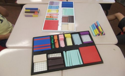 Sample lessons with base ten blocks, mortensen math top tray,